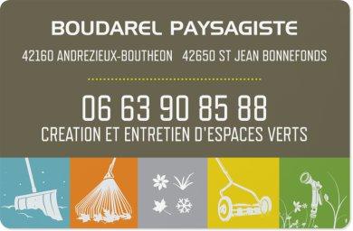 Logo de boudarel paysagiste, société de travaux en Création de jardins, pelouses et de parcs