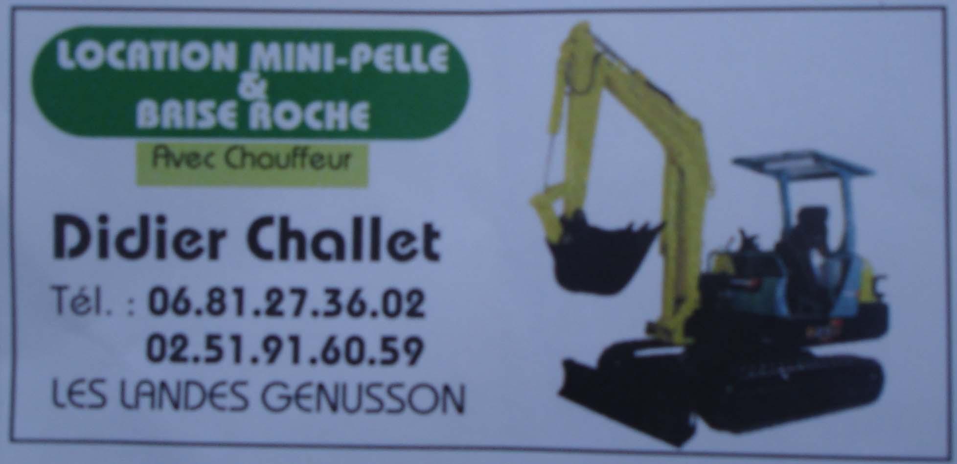 Logo de challet didier, société de travaux en Assainissement - Fosses septiques - forage