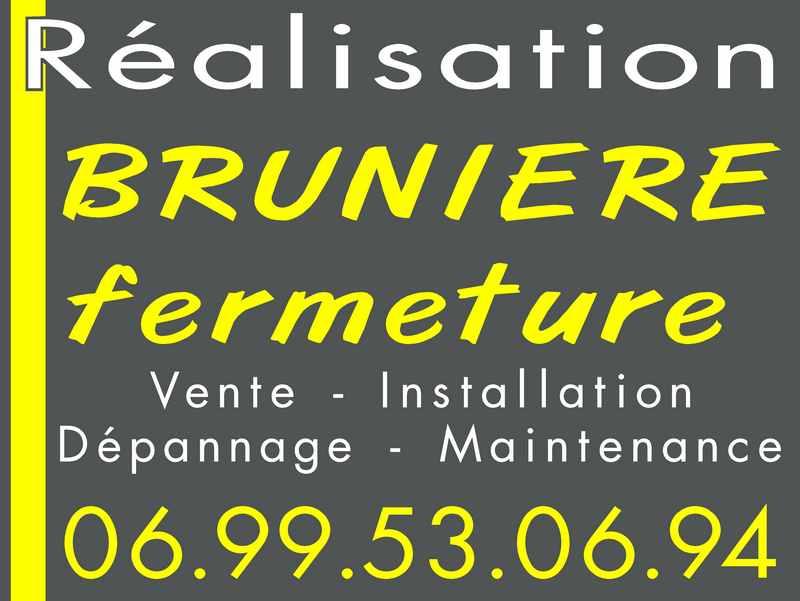 Logo de BRUNIERE FERMETURE, société de travaux en Fourniture et pose d'un portier vidéo