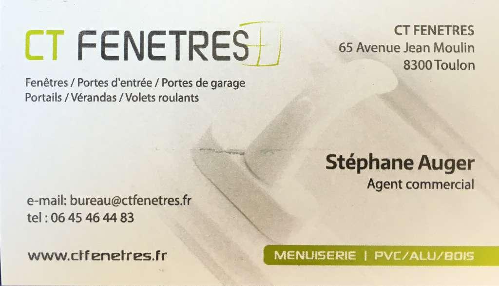 Logo de CT Fenetres, société de travaux en Fourniture et remplacement de porte ou fenêtre en aluminium