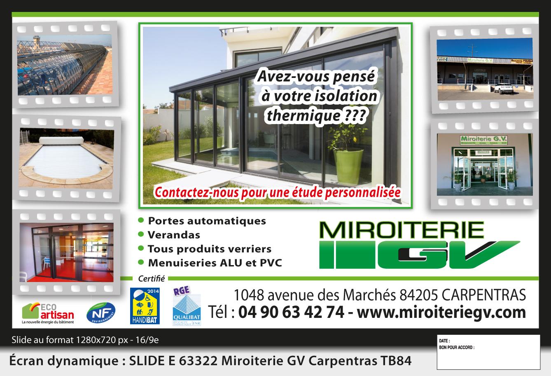 Logo de SARL Miroiterie GV, société de travaux en Fourniture et installation d'une ou plusieurs fenêtres
