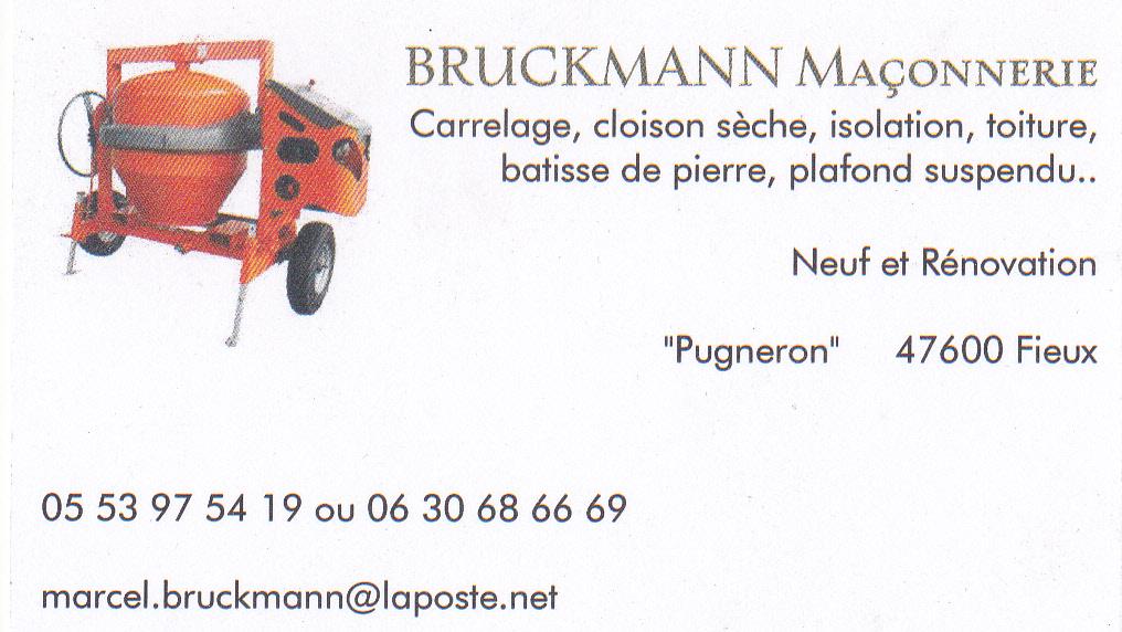 Logo de BRUCKMANN maçonnerie, société de travaux en Maçonnerie : construction de murs, cloisons, murage de porte