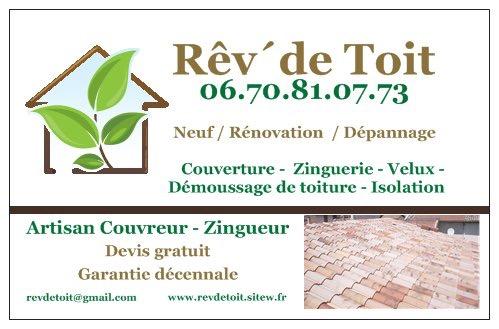 Logo de Rêv ´ de Toit, société de travaux en Rénovation des charpentes
