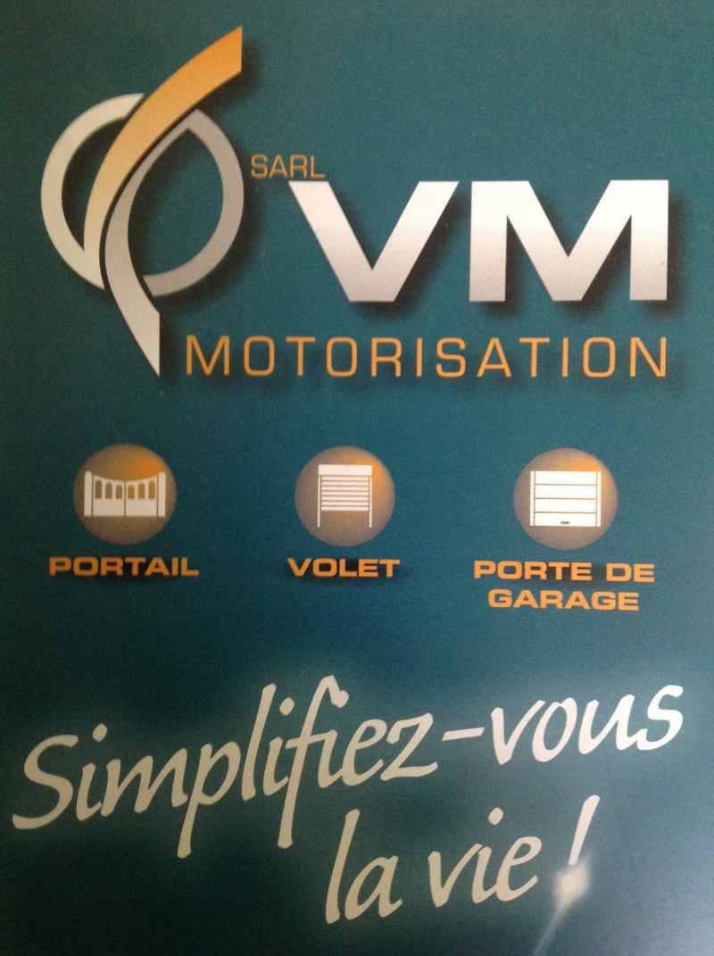 Logo de sarl vmotorisation, société de travaux en Motorisation pour fermeture de portes et portails