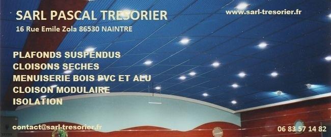 Logo de SARL PASCAL TRESORIER, société de travaux en Fourniture et pose de faux plafonds