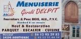 Logo de Menuiserie isolation Delpit Dordogne, société de travaux en Fourniture et remplacement de porte ou fenêtre en bois