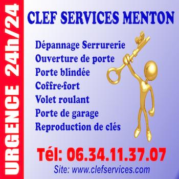 Logo de CLEF SERVICES MENTON, société de travaux en Serrurier