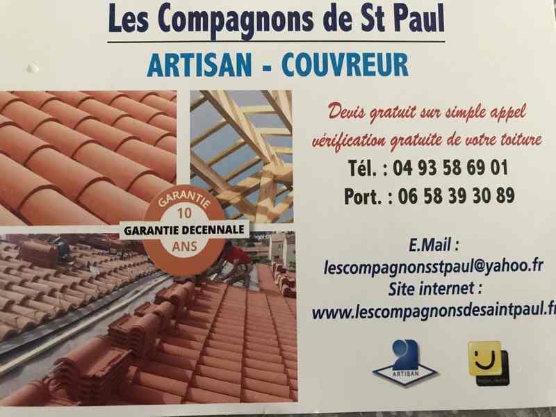 Logo de LES COMPAGNONS DE SAINT PAUL, société de travaux en Fixation de Gouttières (aluminium)