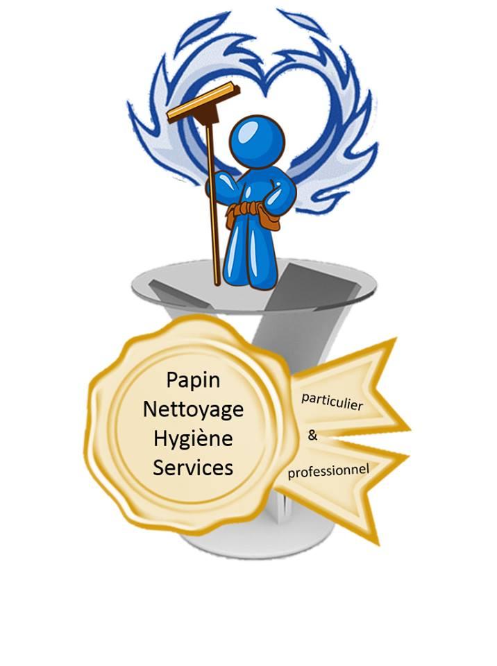 Logo de EIRL PAPIN NETTOYAGE HYGIENE SERVICES, société de travaux en Nettoyage de copropriété
