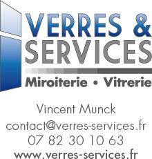 Logo de Verres & Services Miroiterie Vitrerie, société de travaux en Changement de vitres cassées