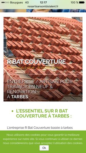 R BAT COUVERTURE, artisan spécialisé en Couverture complète (tuiles, ardoises, zinc)