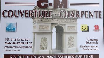 Logo de Gm couverture, société de travaux en Dépannage / réparation de toiture