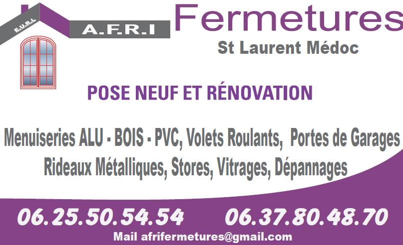 Logo de a.f.r.i fermetures, société de travaux en Fourniture et installation de Volets roulant