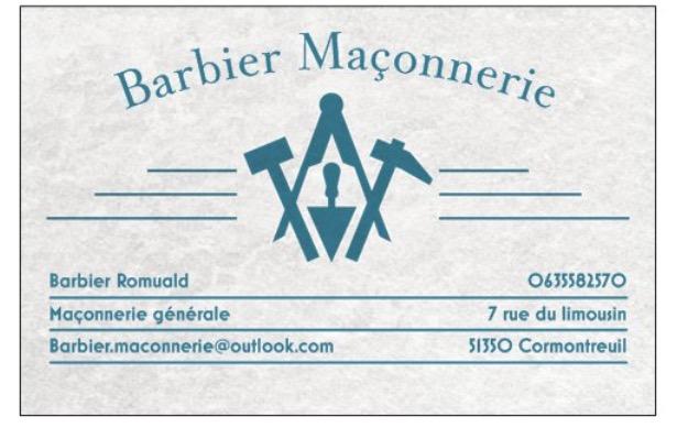 Logo de Barbier maçonnerie, société de travaux en Construction, murs, cloisons, plafonds