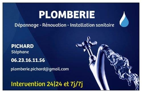 Logo de Plomberie PICHARD, société de travaux en Dépannage en plomberie : fuite, joints, petits travaux