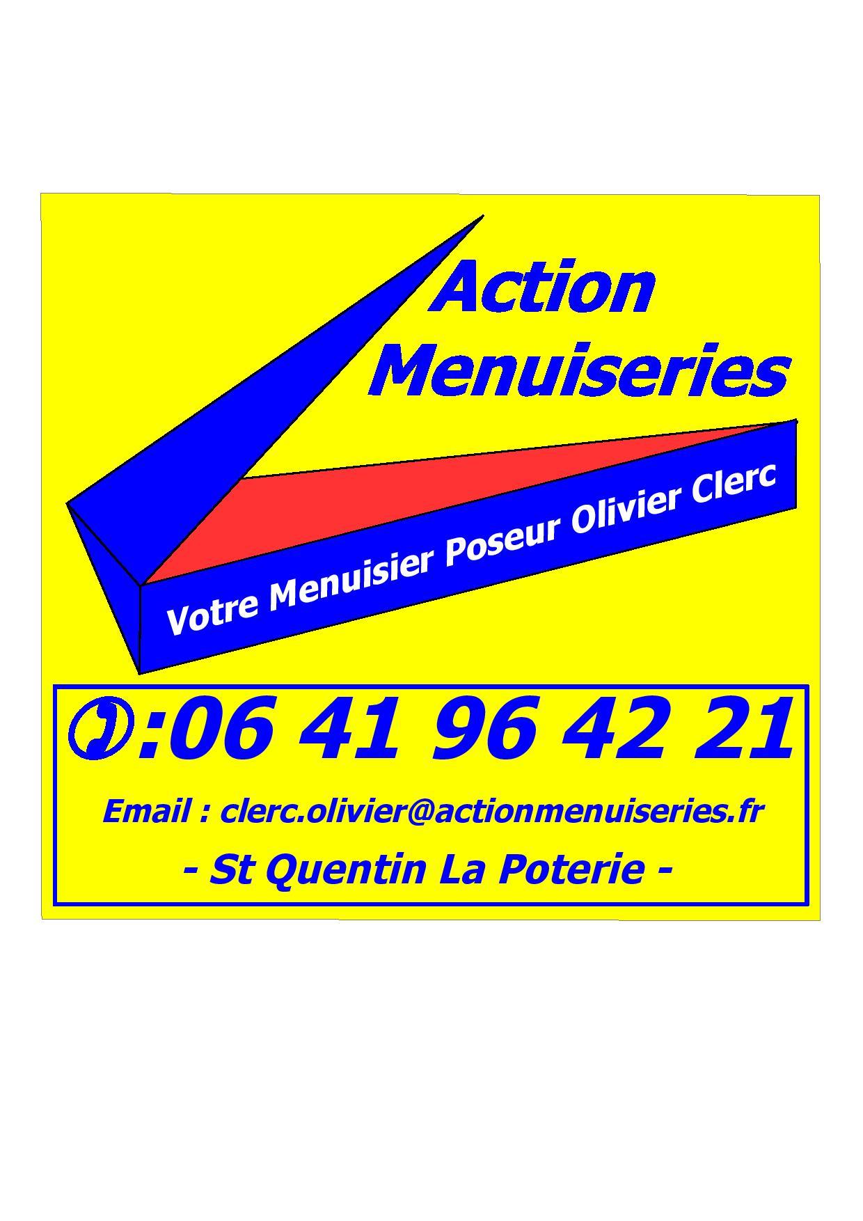 Logo de ACTION MENUISERIES, société de travaux en Fourniture et remplacement de porte ou fenêtre en PVC