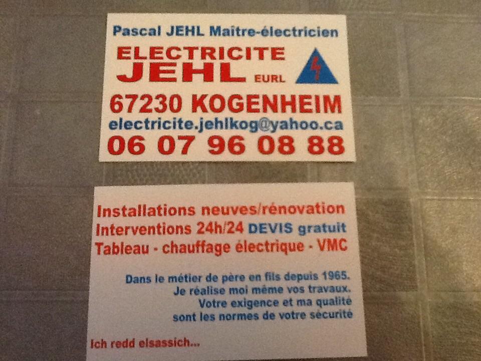 Logo de ELECTRICITE JEHL eurl, société de travaux en Petits travaux en électricité (rajout de prises, de luminaires ...)