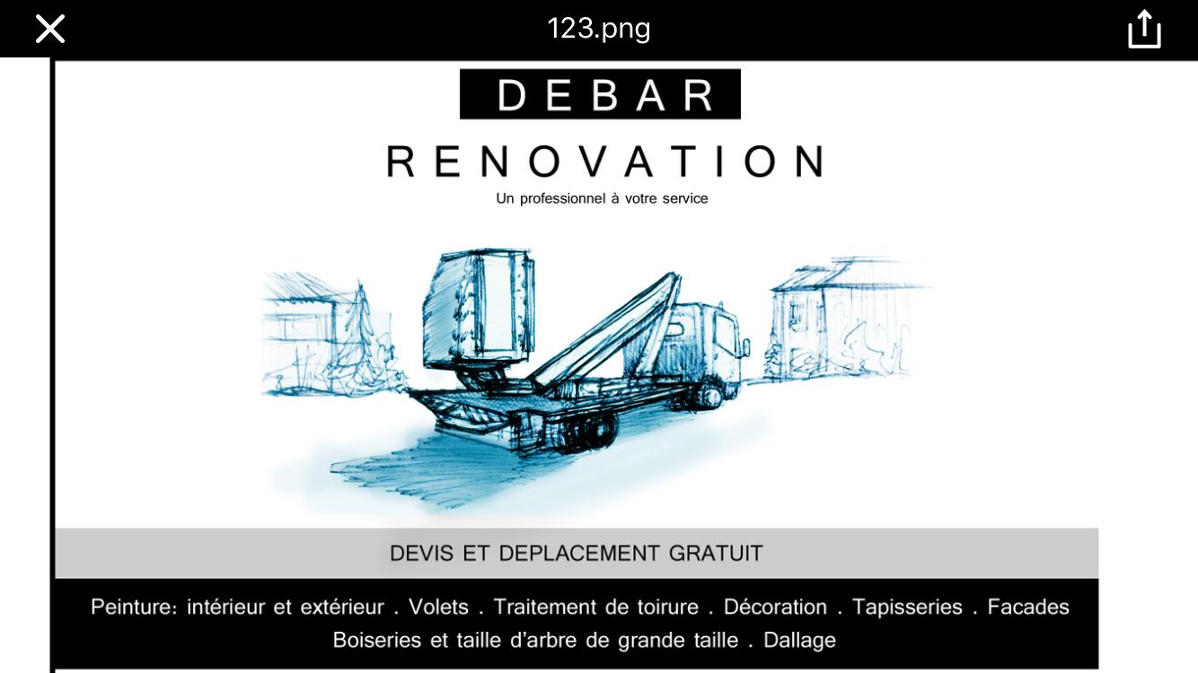 Logo de Entreprise Debar, société de travaux en Décrassage des façades