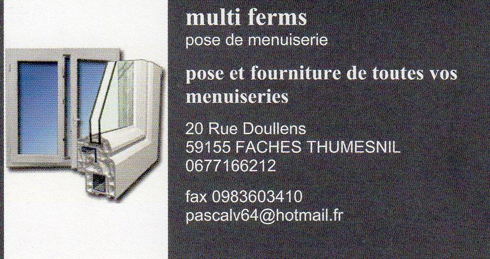 Logo de MULTI FERMS, société de travaux en Fourniture et remplacement de porte ou fenêtre en bois