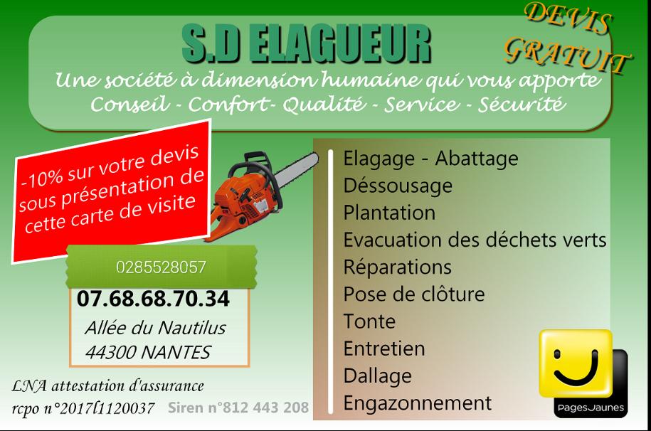 Logo de sd.elagage, société de travaux en Création de jardins, pelouses et de parcs