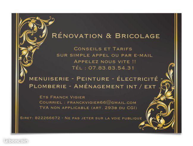 Logo de Ets Franck Vigier, société de travaux en Rénovation complète d'appartements, pavillons, bureaux