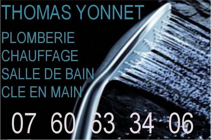 Logo de YONNET THOMAS, société de travaux en Fourniture et installation de lavabos, baignoires, douches, WC...