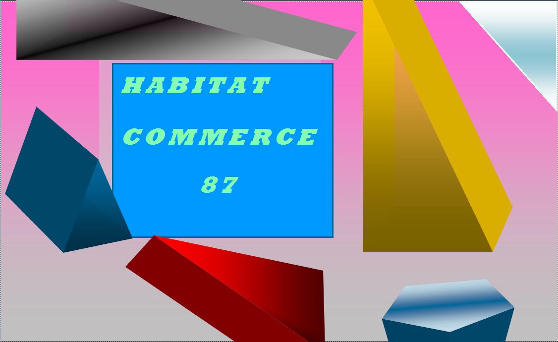 Logo de Habitat commerce 87, société de travaux en Rénovation complète d'appartements, pavillons, bureaux