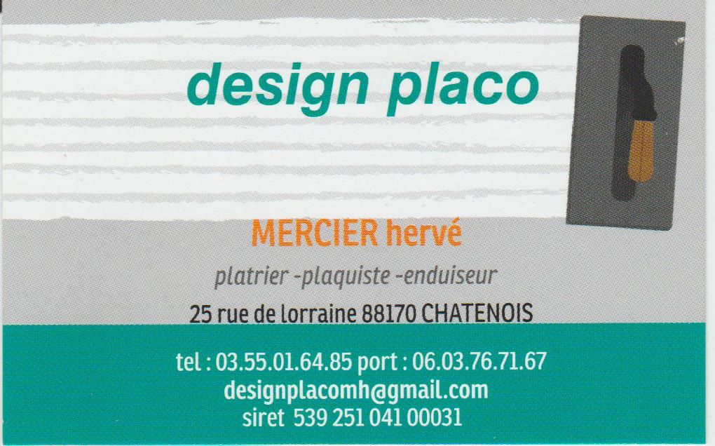 Logo de design placo, société de travaux en Construction, murs, cloisons, plafonds