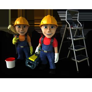 Logo de travail, société de travaux en Fourniture et pose de faux plafonds