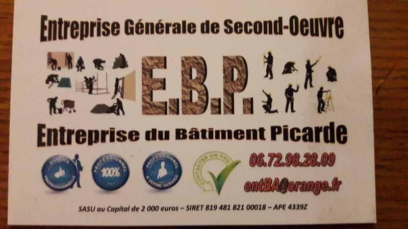 Logo de EBP, société de travaux en Construction, murs, cloisons, plafonds en plaques de plâtre