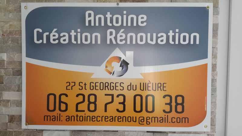 Logo de SAS Antoine création rénovation, société de travaux en Ramonage