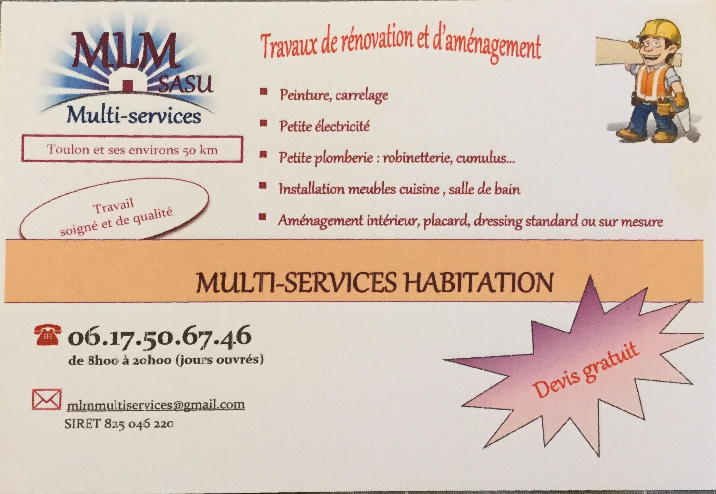 Logo de MLM, société de travaux en Travaux divers