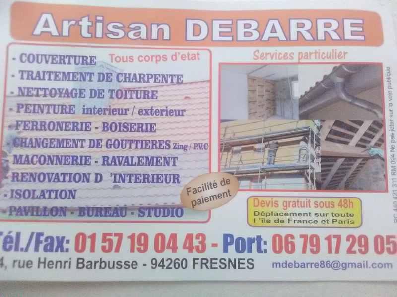 Logo de Artisan debarre, société de travaux en Ravalement de façades