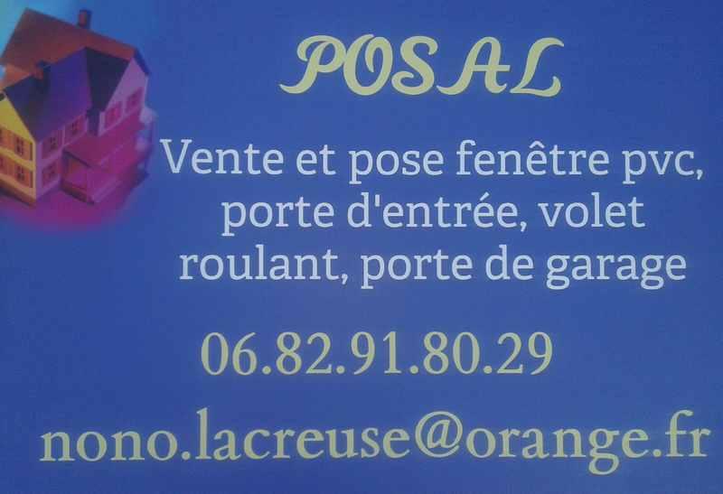 Logo de POSAL, société de travaux en Fourniture et remplacement de porte ou fenêtre en PVC