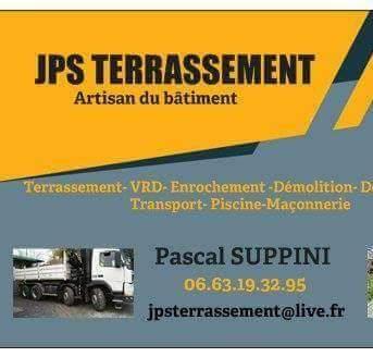 Logo de JPS TERRASSEMENT, société de travaux en Maçonnerie : construction de murs, cloisons, murage de porte