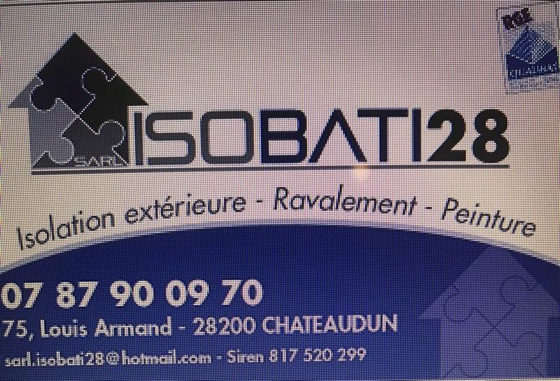 Logo de Isobati28, société de travaux en Isolation thermique des façades / murs extérieurs