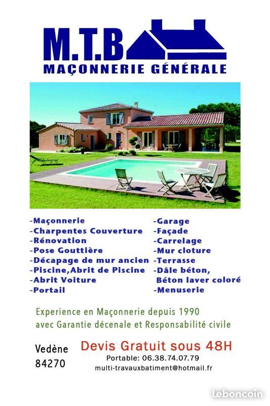 Logo de M.T.B Maçonnerie Générale, société de travaux en Construction de piscines