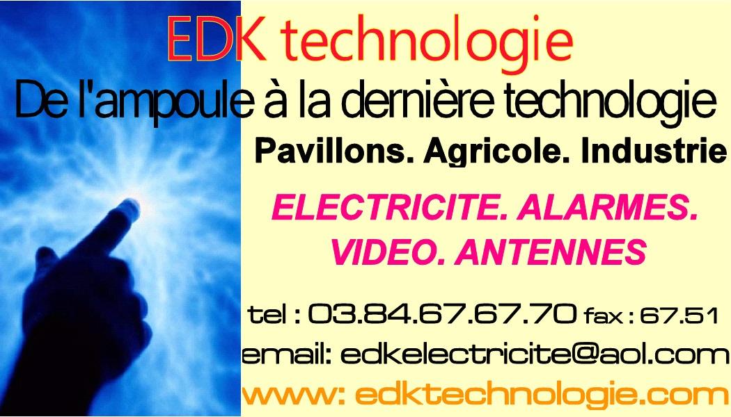 Logo de EDKtechnologie, société de travaux en Alarme domicile