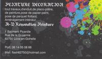 Logo de A-D Rénovation Peinture, société de travaux en Fourniture et pose de parquets flottants