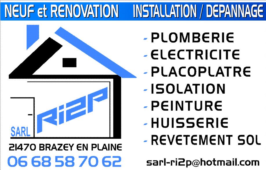 Logo de SARL RI2P, société de travaux en Installation électrique : rénovation complète ou partielle
