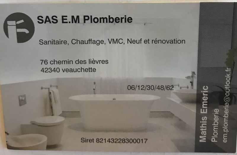 Logo de Em plomberie, société de travaux en Plomberie : installation ou rénovation complète