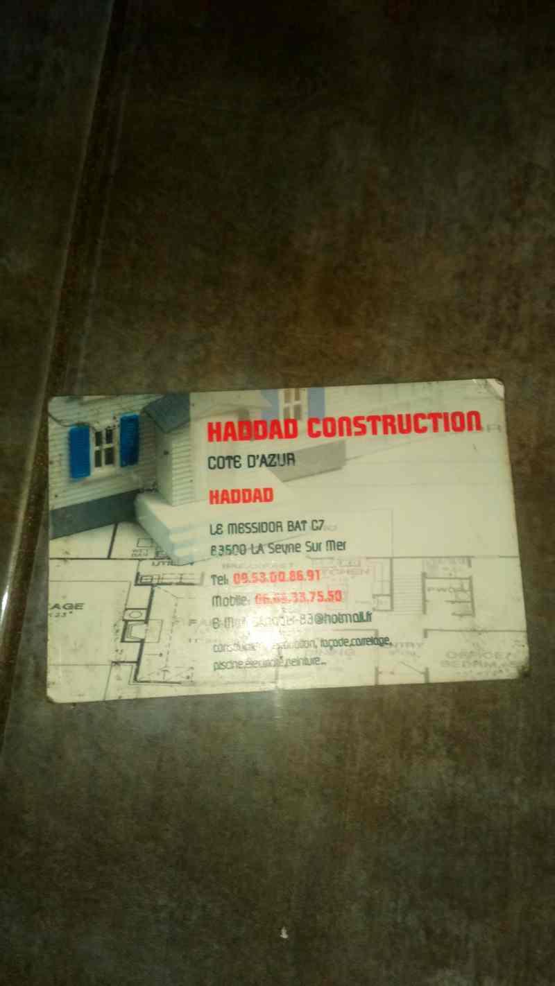 Logo de HADDAD CONSTRUCTION CôTE D'AZUR, société de travaux en Construction de maison