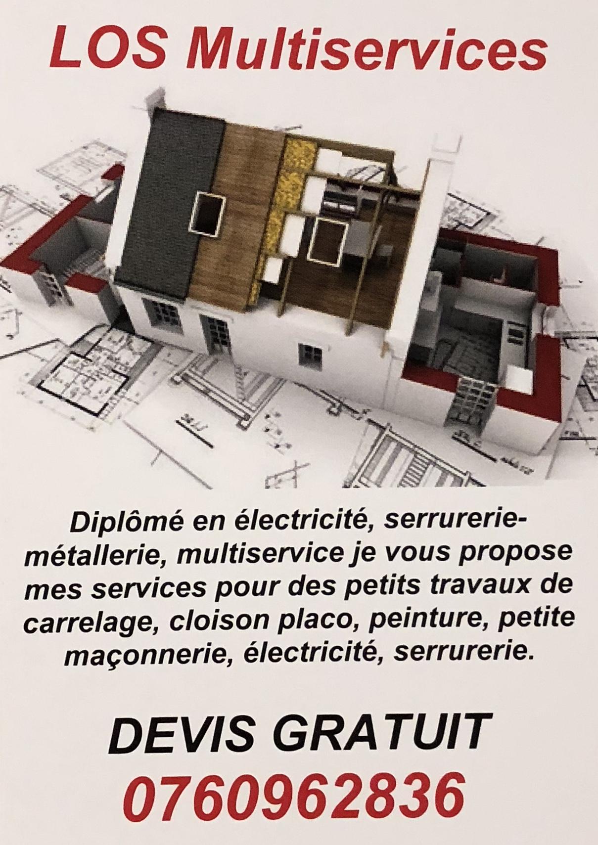 Logo de LOS Multiservices, société de travaux en Peinture : mur, sol, plafond
