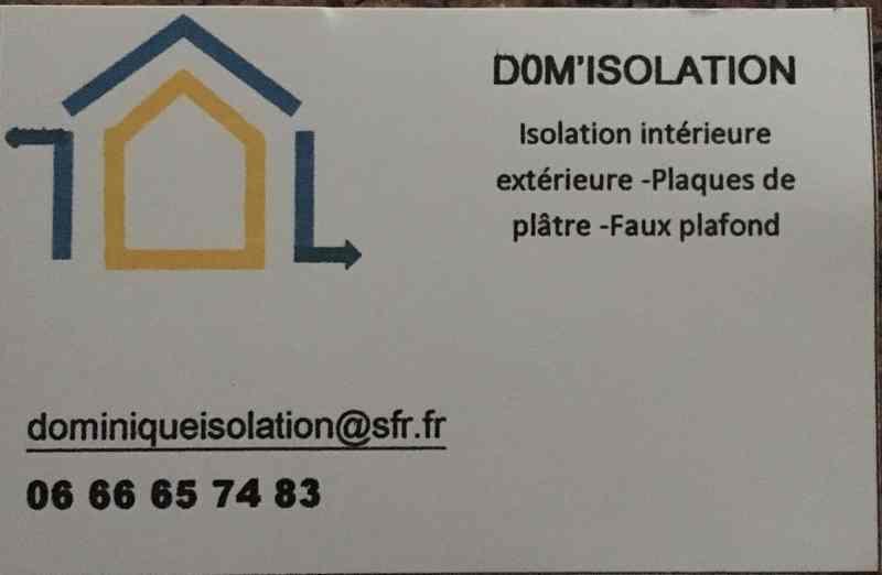 Logo de DOM'ISOLATION, société de travaux en Construction, murs, cloisons, plafonds