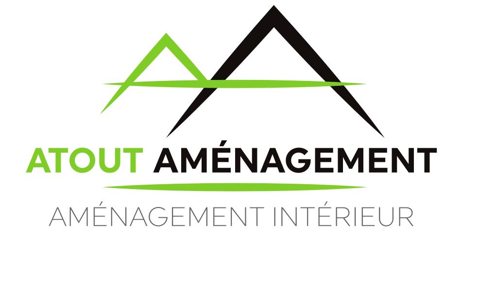 Logo de atout aménagement, société de travaux en Fourniture, création et pose de placards