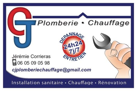 Logo de CJ plomberie, société de travaux en Fourniture et installation d'éviers, de lavabos