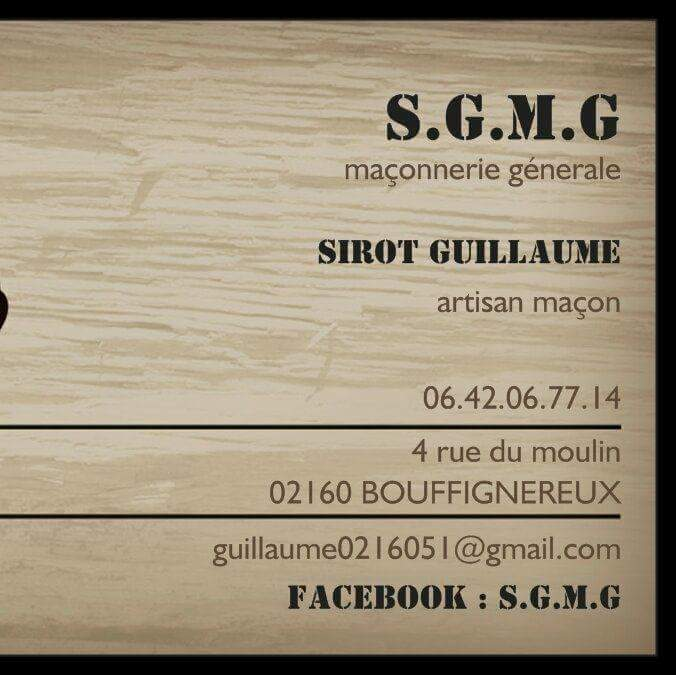Logo de SGMG, société de travaux en Maçonnerie : construction de murs, cloisons, murage de porte