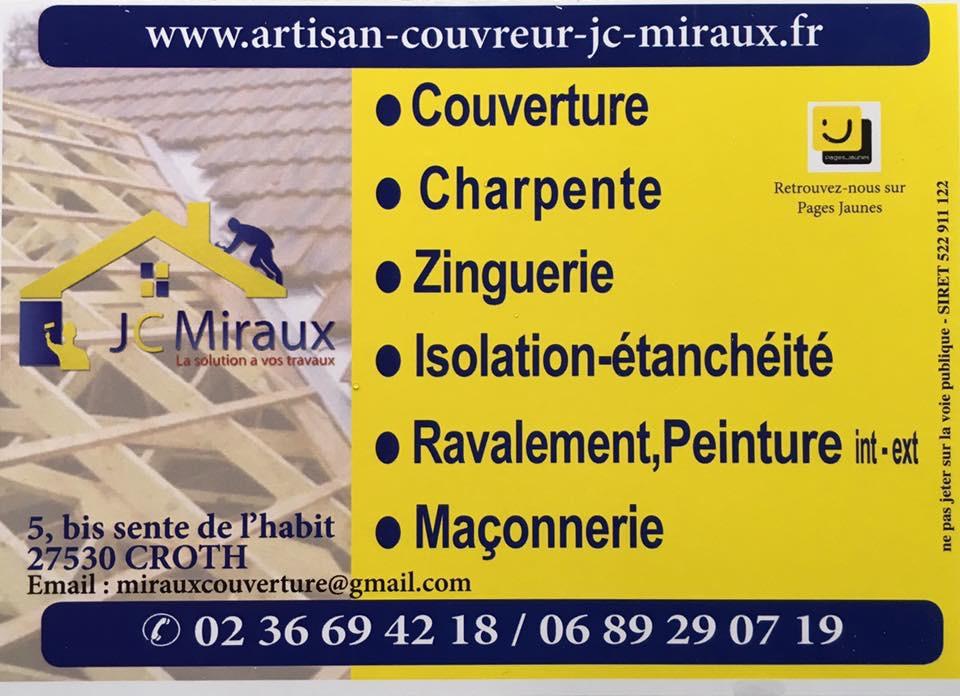 Logo de jc miraux, société de travaux en Réparation de toiture