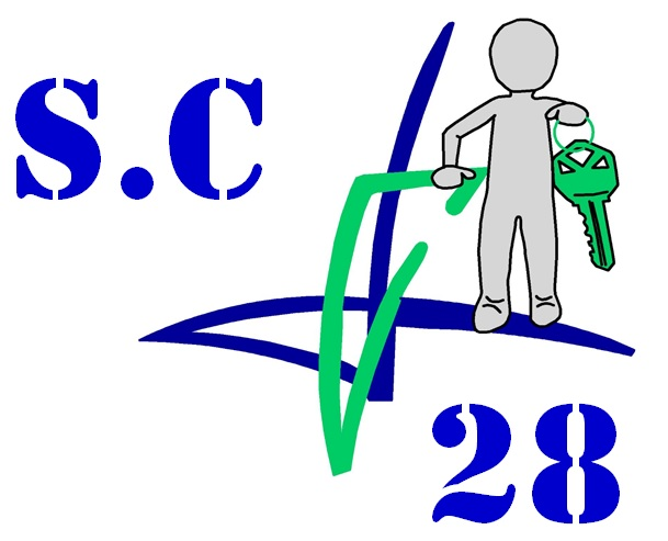 Logo de SC 28, société de travaux en Dépannage de serrures intérieures / extérieures
