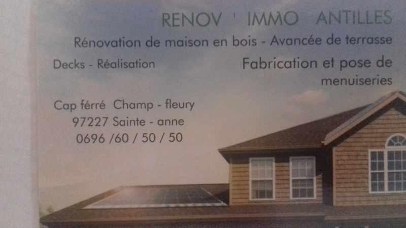 Logo de RENOV'IMMO, société de travaux en Fourniture et pose d'un escalier intérieur
